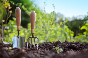 gardening-fork-and-trowel